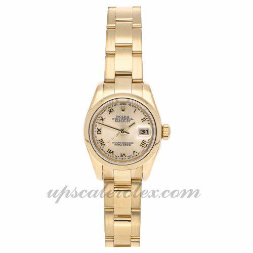 Ladies Rolex Datejust 179168 26mm Case Mechanical (Automatic) Movement Champagne Dial