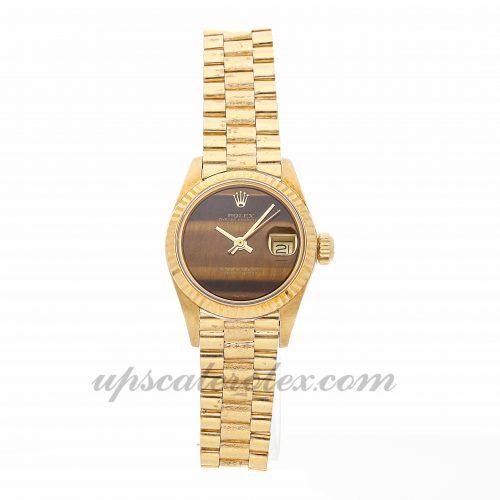 Ladies Rolex Datejust 6916 26mm Case Mechanical (Automatic) Movement Gold Dial