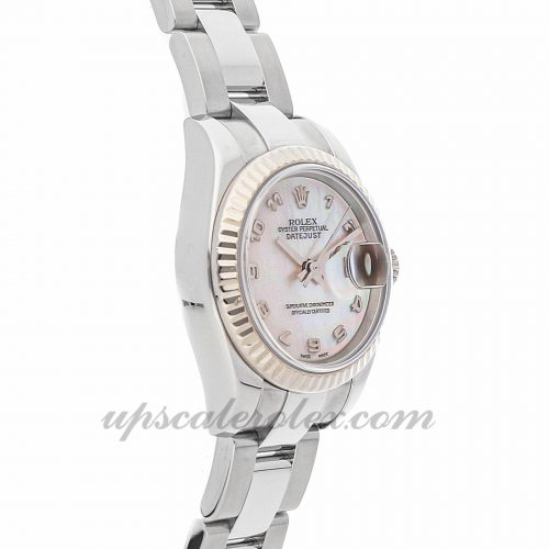 Ladies Rolex Datejust 179174 26mm Case Mechanical (Automatic) Movement Mother-of-pearl Dial