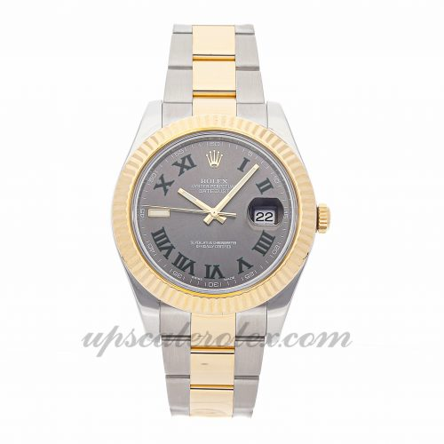 Mens Rolex Datejust Ii 116333 41mm Case Mechanical (Automatic) Movement Grey/Charcoal Dial