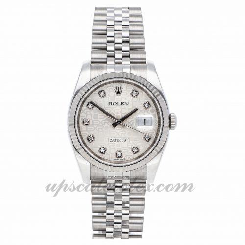 Mens Rolex Datejust 116234 36mm Case Mechanical (Automatic) Movement Silver Dial