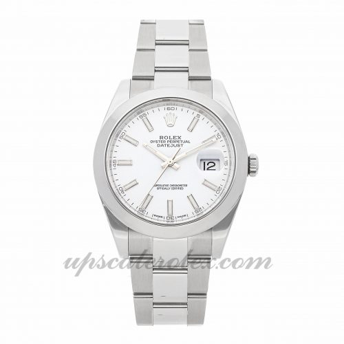 Mens Rolex Datejust 41 126300 41mm Case Mechanical (Automatic) Movement White Dial