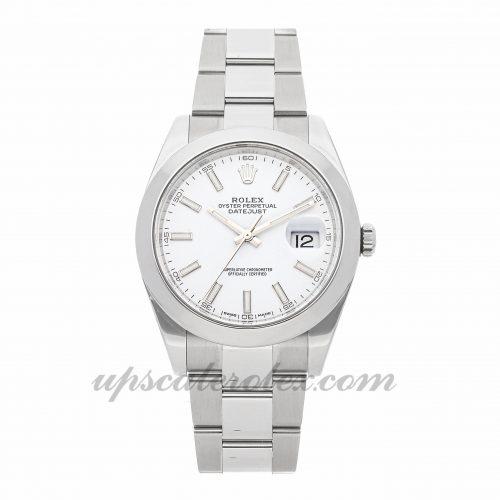 Mens Rolex Datejust 41 126300 41mm Case Mechanical (Automatic) Movement White Dial