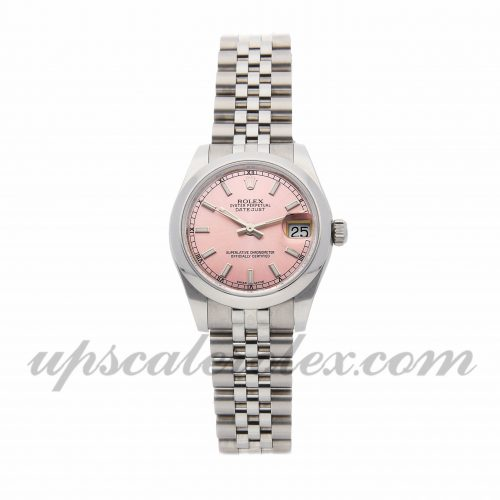 Ladies Rolex Datejust 178204 31mm Case Mechanical (Automatic) Movement Pink Dial