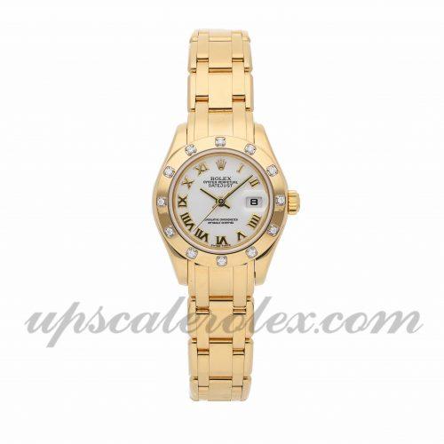 Ladies Rolex Datejust 80318 29mm Case Mechanical (Automatic) Movement White Dial