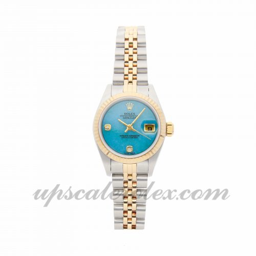 Ladies Rolex Datejust 79173 26mm Case Mechanical (Automatic) Movement Blue/Green Dial