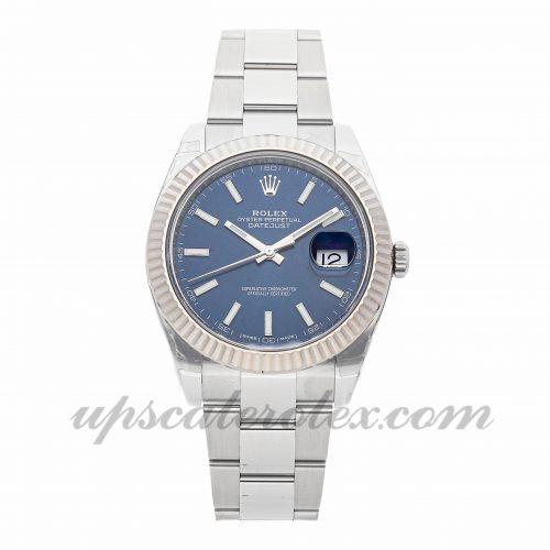 Mens Rolex Datejust 126334 41 41mm Case Mechanical Movement Blue Dial