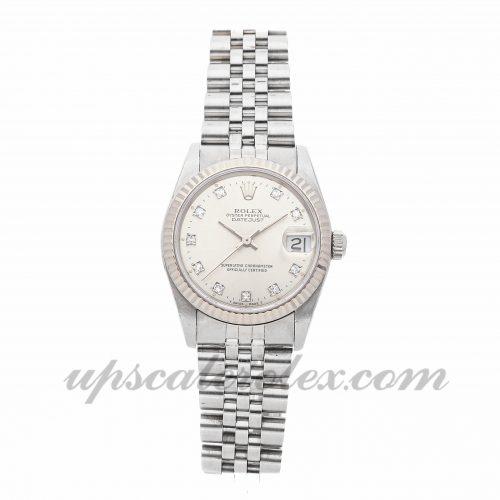 Ladies Rolex Datejust 68274 31mm Case Mechanical (Automatic) Movement Silver Dial