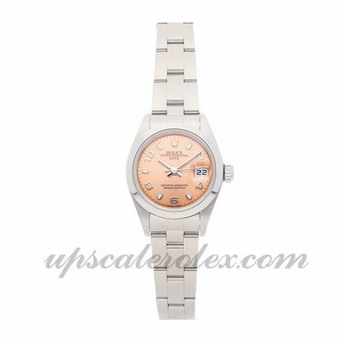 Ladies Rolex Datejust 79160 26mm Case Mechanical (Automatic) Movement Pink Dial