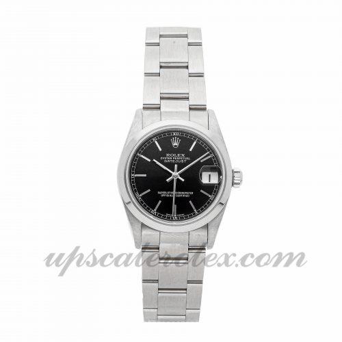 Ladies Rolex Datejust 78240 31mm Case Mechanical (Automatic) Movement Black Dial