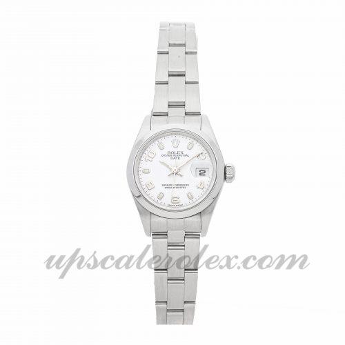 Ladies Rolex Datejust 79160 26mm Case Mechanical (Automatic) Movement White Dial