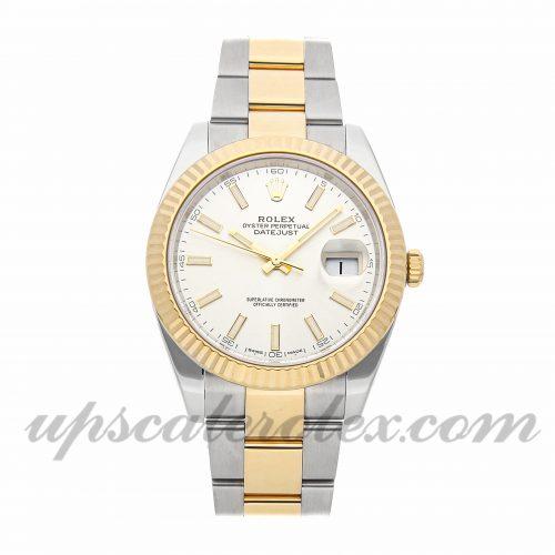 Mens Rolex Datejust 41 126333 41mm Case Mechanical (Automatic) Movement Silver Dial