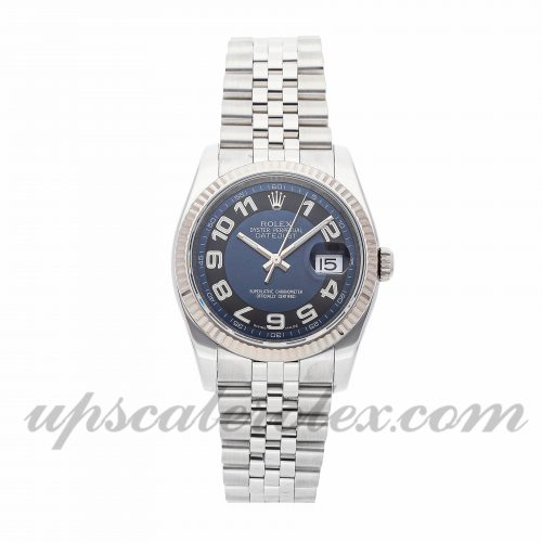 Mens Rolex Datejust 116234 36mm Case Mechanical (Automatic) Movement Black/Blue Dial