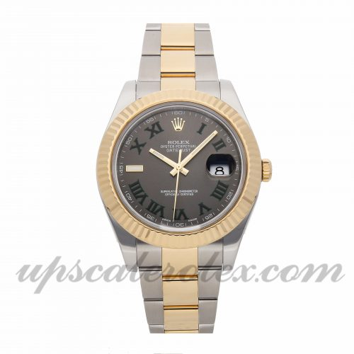 Mens Rolex Datejust Ii 116333 41mm Case Mechanical (Automatic) Movement Slate Gray Dial