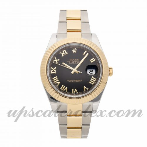 Mens Rolex Datejust Ii 116333 41mm Case Mechanical (Automatic) Movement Black Dial