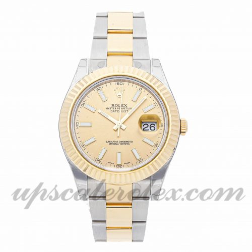Mens Rolex Datejust Ii 116333 41mm Case Mechanical (Automatic) Movement Champagne Dial
