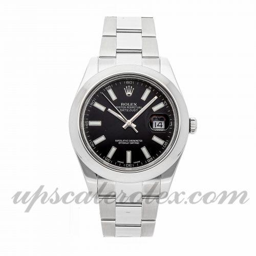 Mens Rolex Datejust Ii 116300 41mm Case Mechanical (Automatic) Movement Black Dial