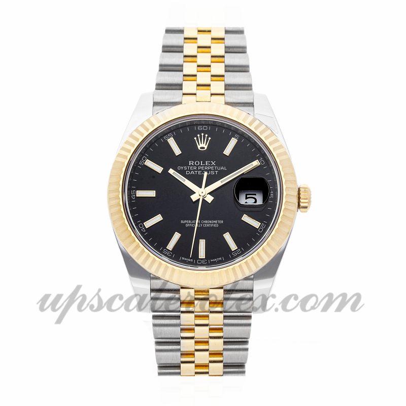 Mens Rolex Datejust 41 126333 41mm Case Mechanical (Automatic) Movement Black Dial
