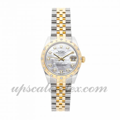 Ladies Rolex Datejust 178343 34mm Case Mechanical (Automatic) Movement White Dial