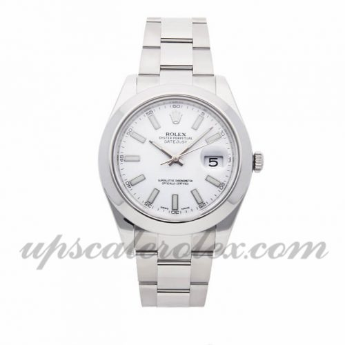 Mens Rolex Datejust Ii 116300 41mm Case Mechanical (Automatic) Movement White Dial