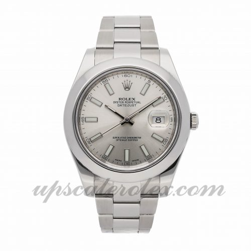 Mens Rolex Datejust Ii 116300 41mm Case Mechanical (Automatic) Movement Silver Dial