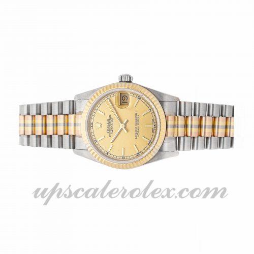 Best Fake Watches Rolex Datejust Tridor 68279 31mm Champagne Dial