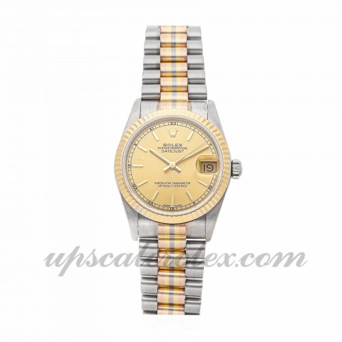 Best Fake Watches Rolex Datejust Tridor 68279 31mm Champagne Dial