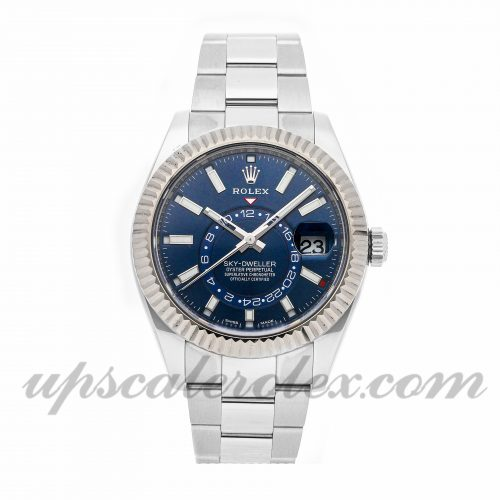 Fake Watch Rolex Sky-dweller 326934 42mm Blue Dial