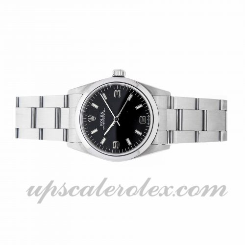 Replica Rolex Watches Rolex Oyster Perpetual 77080 31mm Black Dial