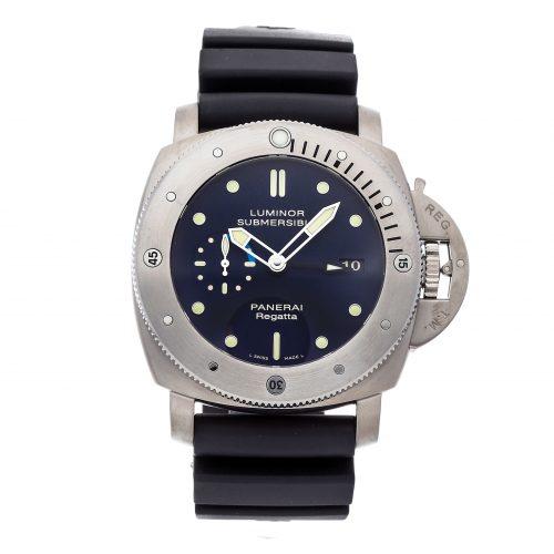 Panerai Replicas Watches Panerai Luminor Submersible 1950 Regatta 3-days Gmt Titanio Limited Edition Pam 371