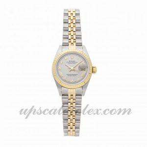 Ladies Rolex Datejust 79173 26mm Case Mechanical (Automatic) Movement Steel Grey Dial