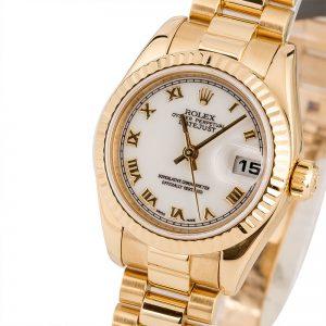 Cheap Rolex Watches Replica Lady Rolex President 179178 White Roman