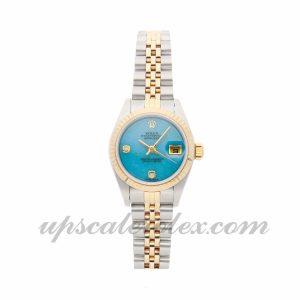 Ladies Rolex Datejust 79173 26mm Case Mechanical (Automatic) Movement Blue/Green Dial