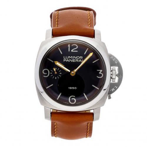Men Brown Replica Panerai Luminor 1950 Limited Edition Pam 127 Stainless Steel