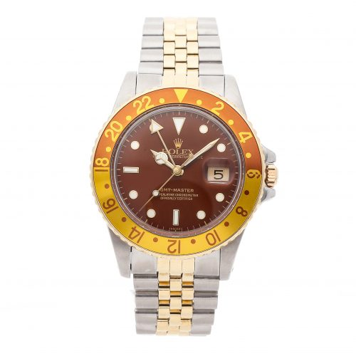 Case 40mm Rolex GMT Master Rootbeer 16753 Dial Brown Stainless Steel
