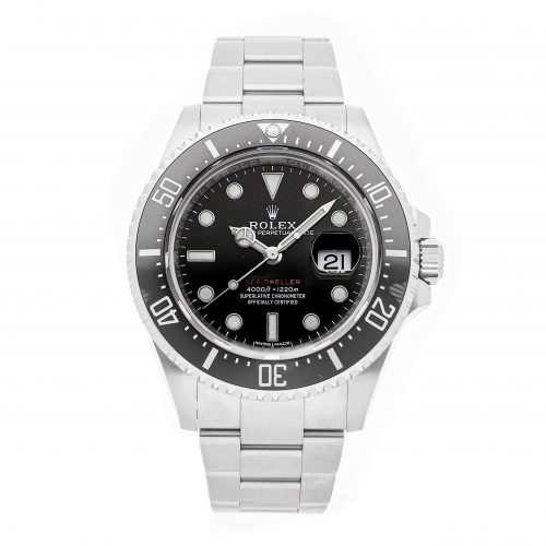 Men Black Round Fake Rolex Sea-Dweller 4000 126600 Stainless Steel