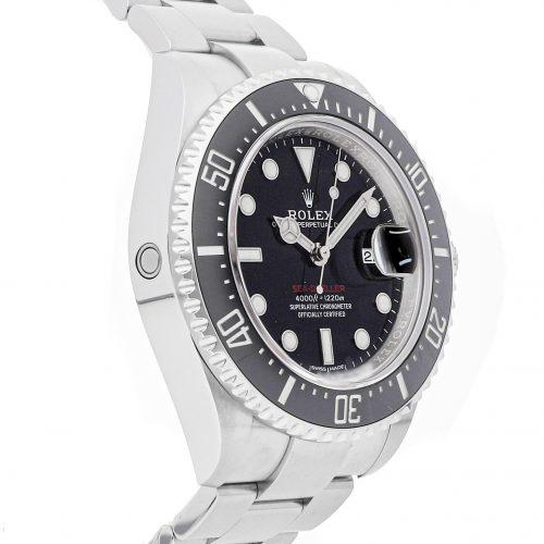 Men Black Round Fake Rolex Sea-Dweller 4000 126600 Stainless Steel
