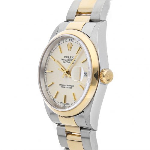 Men Casual Replica Rolex Datejust 16203 Silver Stainless Steel