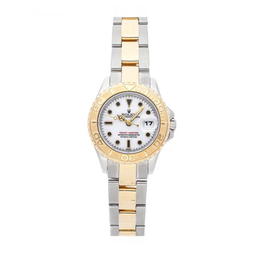 Ladies White 29mm Replica Rolex Yacht-master 69623 Stainless Steel