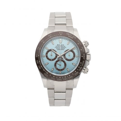 Men Glacier Blue Fake Rolex Daytona 116506 Folding Buckle
