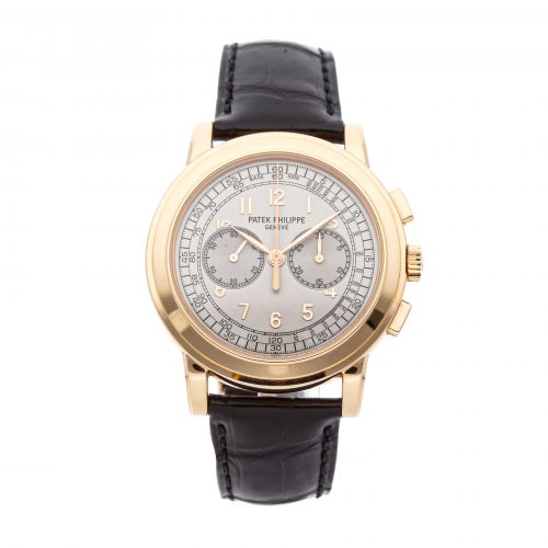 Rose Gold Men Replica Patek Philippe Complications Chronograph 5070r-001 Round