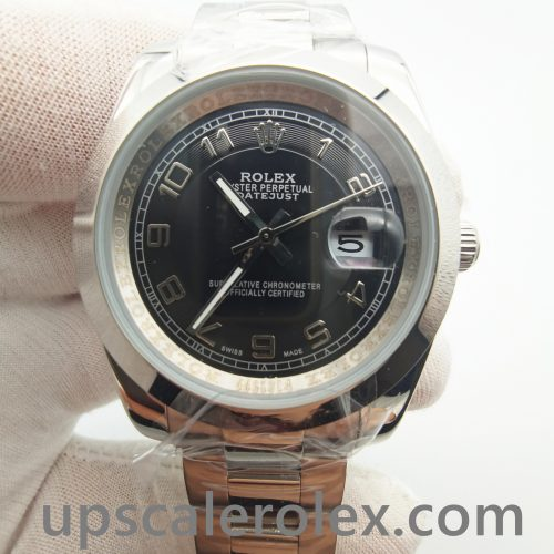 Rolex Datejust 116200 Black 36 Mm 904l Stainless Steel Automatic Watch