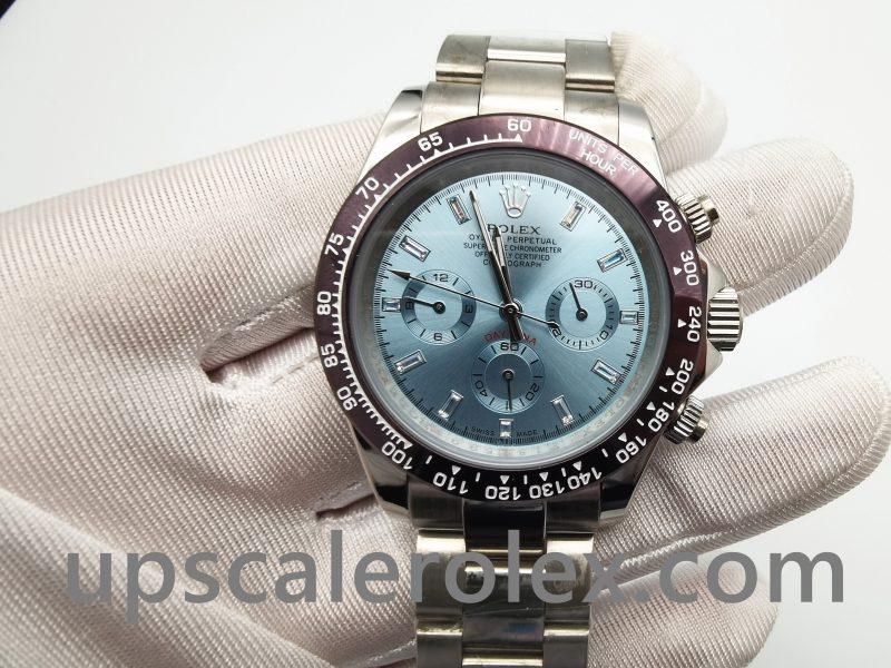 Rolex Daytona 116506 Mens Automatic 950 Light Blue Platinum Watch
