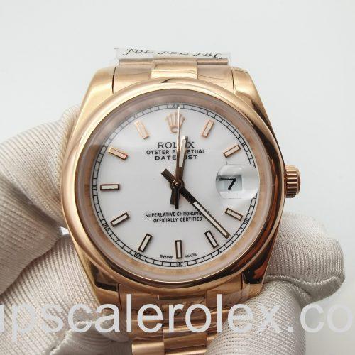 Rolex Datejust 4467 Unisex 36 mm Automatic 18k Rose Gold Watch