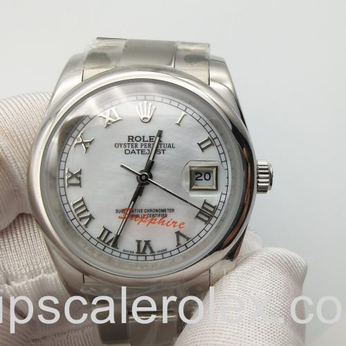 Rolex Datejust 16200 Silver Dial 36 mm Stainless Steel Automatic Watch