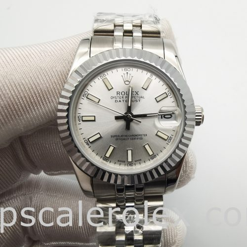 Rolex Mid-Size Datejust 68274 Ladies 31 mm Silver Steel Automatic Watch