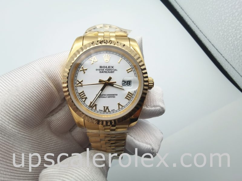 Rolex Datejust 126333 Mens 41 mm White Stainless Steel Automatic watch