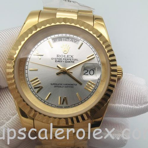 Rolex Day-Date II 218238 Automatic Mens 41 mm Yellow Gold Steel Watch