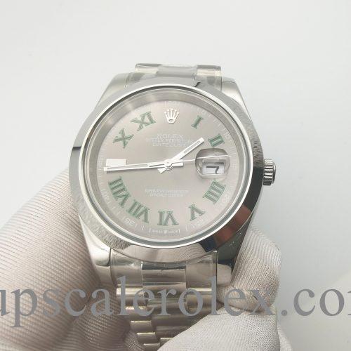 Rolex Datejust 126300 Steel Grey Unisex 41 Mm Fold Clasp Automatic Watch