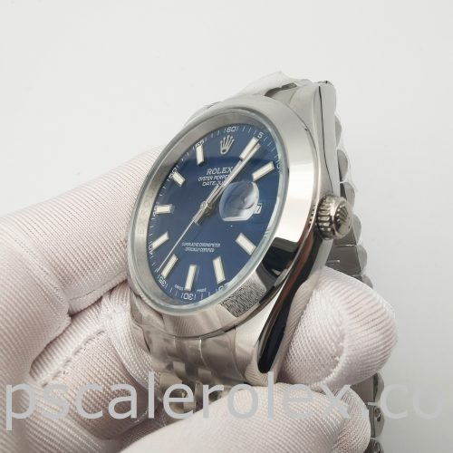 Rolex Datejust 126300 Men Blue Steel 41mm Automatic Watch
